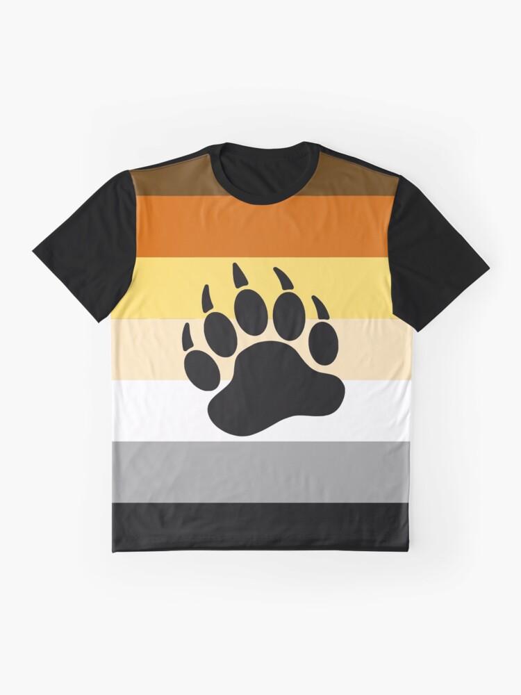 Alternate view of Bear Pride Flag Stripe Graphic T-Shirt