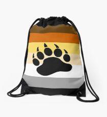Bear Pride Flag Stripe Drawstring Bag