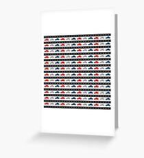 Cars - Red, White and Blue Greeting Card