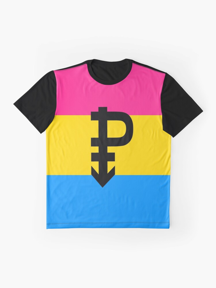 Alternate view of Pansexual Pride Flag Stripe Graphic T-Shirt