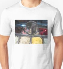 Colorful icecream flavours with dollar in glass Unisex T-Shirt