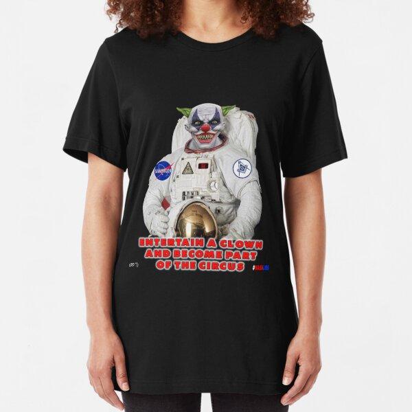 NASA Lies Clown Slim Fit T-Shirt