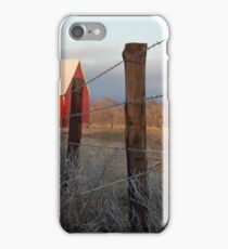 Frosted Barb Wire at Sunset iPhone Case/Skin