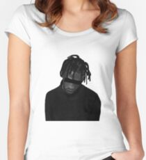 Travis Scott illustration (MORE VERSIONS IN ARTIST NOTES) Women's Fitted Scoop T-Shirt