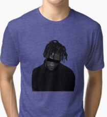 Travis Scott illustration (MORE VERSIONS IN ARTIST NOTES) Tri-blend T-Shirt