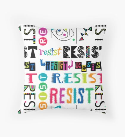 Resist Again Throw Pillow