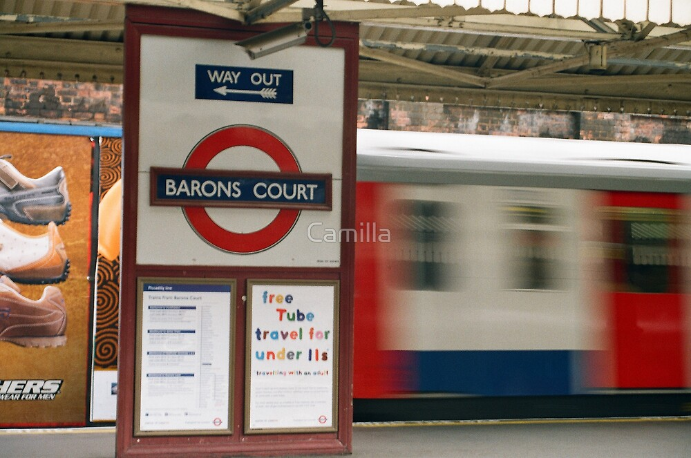 Barons Court Tube by Camilla