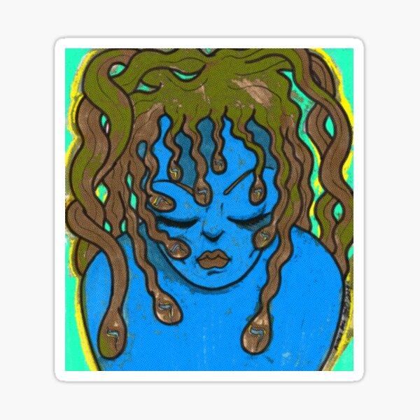 Hebrew Medusa  Sticker