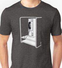 Old School Phone Booth Unisex T-Shirt