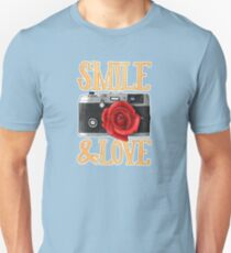 Smile and Love Unisex T-Shirt