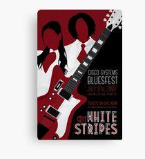 The White Stripes Art Deco Canvas Print