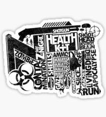 Survival Guide (black) Sticker