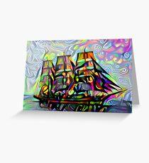 Colorful ship Greeting Card
