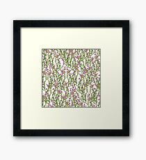Pattern with heather Framed Print