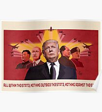 Trump Communist Propaganda Red Poster