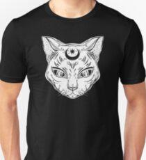 Mystic Cat - Occult Linework Tattoo Unisex T-Shirt