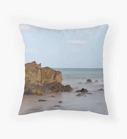Rock in the Surf Throw Pillow
