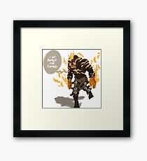 League of Legends - Brand: Banned for flaming Framed Print