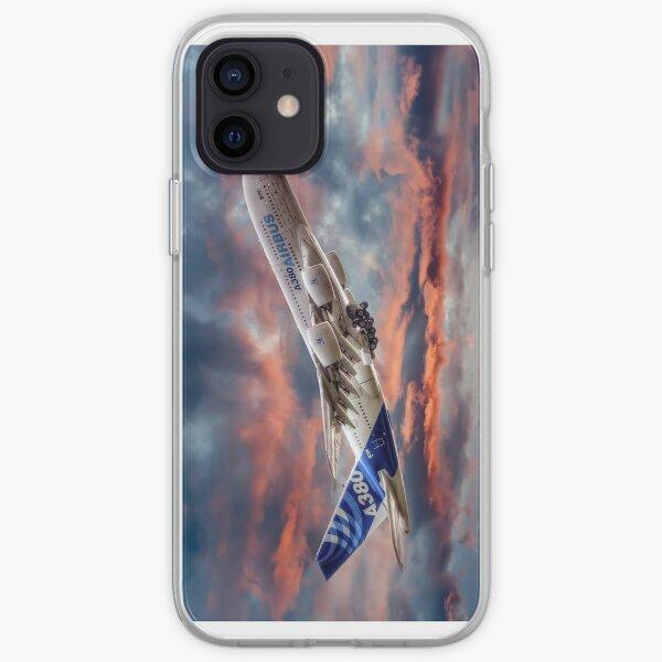 Airbus A380 - Coucher de soleil pour Iphone Coque souple iPhone