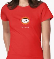 Be Normal: Normal Boy Superstar Womens Fitted T-Shirt