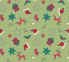 Christmas Seamless Pattern by Olga Altunina