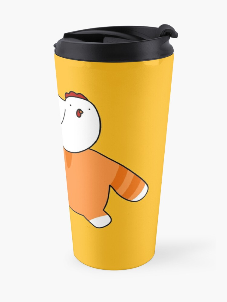 Alternate view of Orange Tabby and Chicken Travel Mug