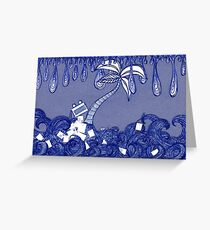 Snail Mail - Waves 3 Greeting Card