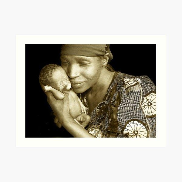 'Mother and child' Northern Rwanda. By Rebecca Zachariah & Melinda Kerr Art Print