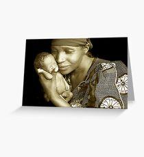 'Mother and child' Northern Rwanda. By Rebecca Zachariah & Melinda Kerr Greeting Card