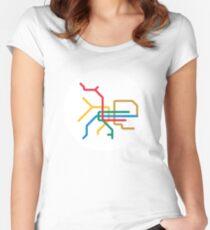 Mini Metro - Taipei, Taiwan Women's Fitted Scoop T-Shirt