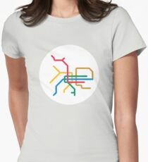 Mini Metro - Taipei, Taiwan Womens Fitted T-Shirt