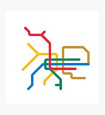 Mini Metro - Taipei, Taiwan Photographic Print