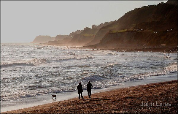 Walk on the beach by John Lines