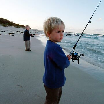 kids fishing eagle bay at dusk by nickpage