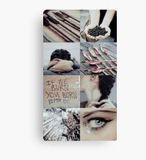 The Hunger Games Aesthetic Canvas Print