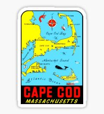 Cape Cod Massachusetts Vintage Travel Decal Sticker