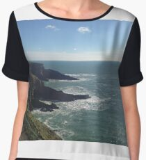 Mizen Head Cork Ireland Water Nature Women's Chiffon Top
