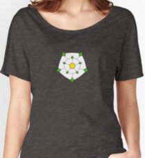 Yorkshire Flag and Rose Women's Relaxed Fit T-Shirt