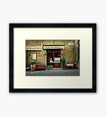 Italian restaurant Framed Print