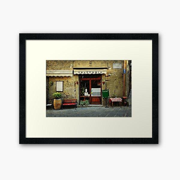 Italian restaurant Framed Art Print