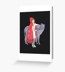 Little Red Riding Hood Alternate Ending Greeting Card