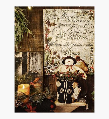 Country Christmas Crafts 7 Photographic Print