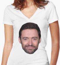 Hugh Jackman Women's Fitted V-Neck T-Shirt