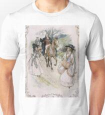 Charles Edmund Brock - Jane Austen She Turned With Surprise T-Shirt