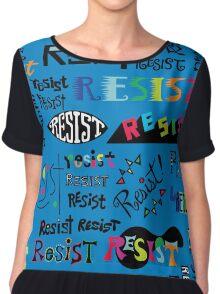 Resist Them blue Women's Chiffon Top