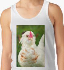 White Barbu d'Uccle bantam chicken Men's Tank Top