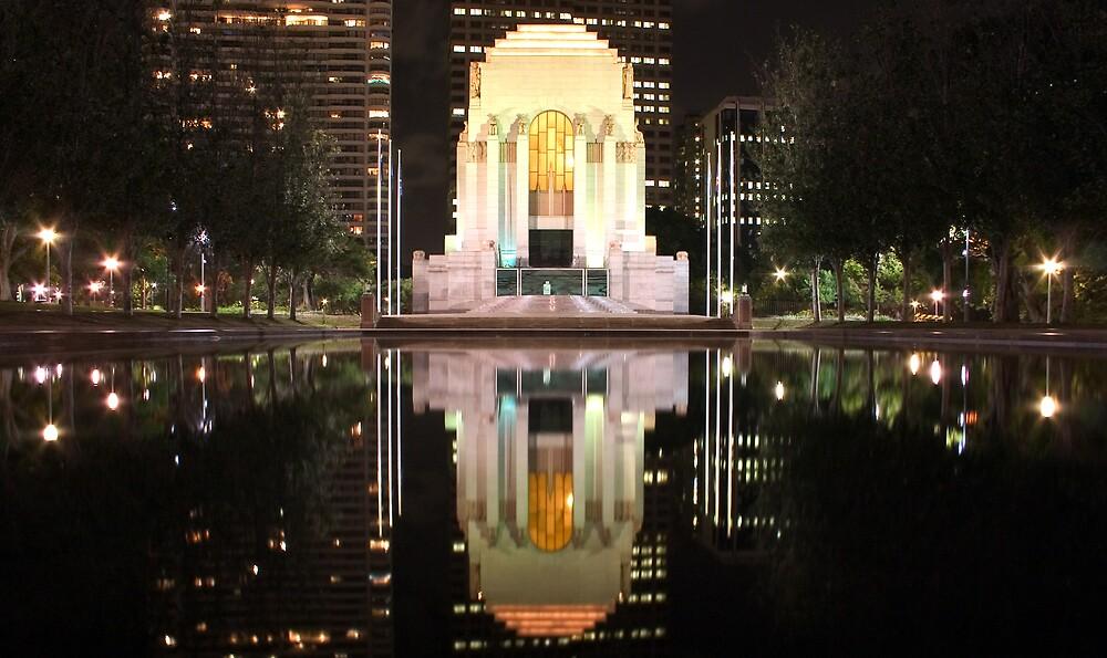 Hyde Park Sydney - Anzac Memorial by Matthew Tyrrell