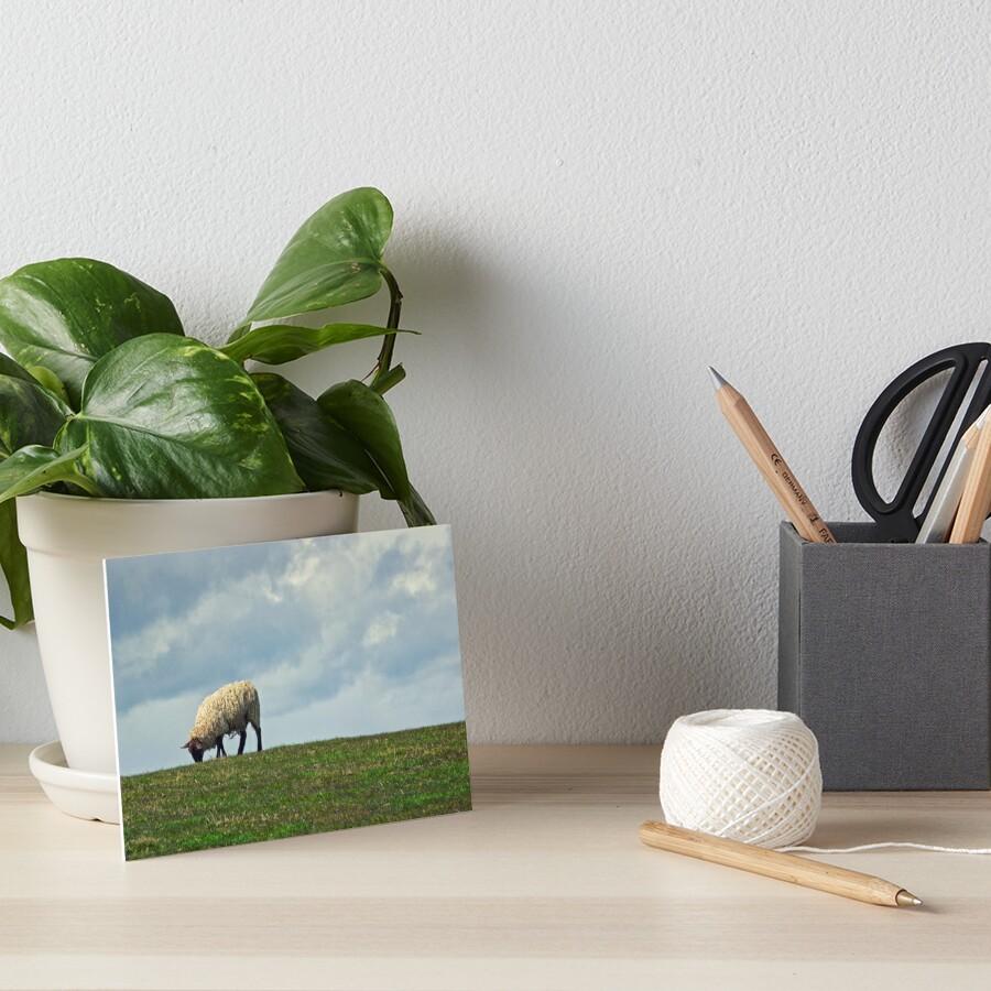 Sheep on the Hill Art Board Print
