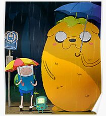 adventure time totoro and finn Poster
