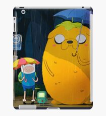 adventure time totoro and finn iPad Case/Skin